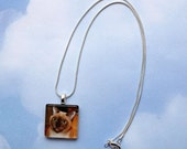 Custom Photo Charm with Silver Plated Chain, Key Chain, Purse Dangle, Bookmark or Kilt Pin