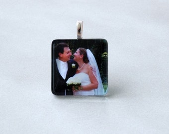 Custom Photo Pendant with Silver Plated Chain, Key Chain, Purse Dangle,Bookmark or Kilt Pin