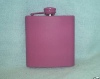 Ready To Ship!  6 oz Premium Satin Pink Liquor Flask Plus FREE Flask Funnel, and In-Country Shipping! More Color Options Inside!