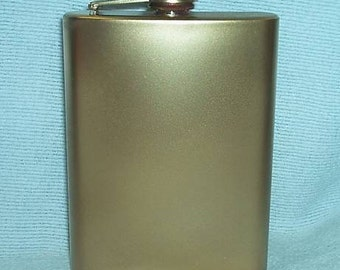 Ready To Ship! 8-oz Metallic Gold Stainless Steel Flask Plus FREE Flask Funnel and In-Country Shipping! More Color Options Listed Inside!