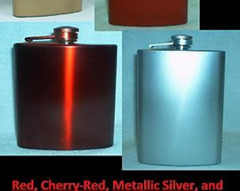 Ready To Ship! 8-oz ANY Color Stainless Steel Liquor Flask + Free Flask Funnel and In-Country Shipping! TONS Of Additional Colors Available!