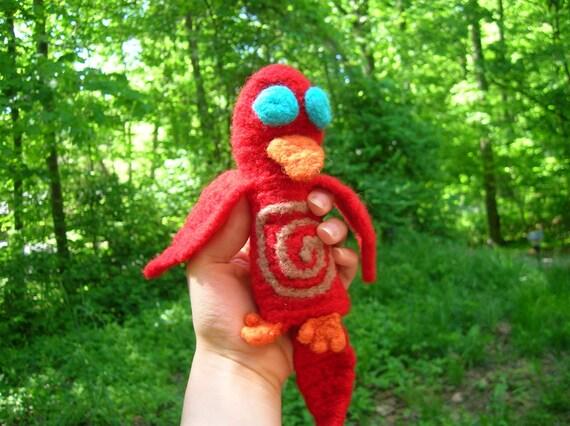 red bird puppet