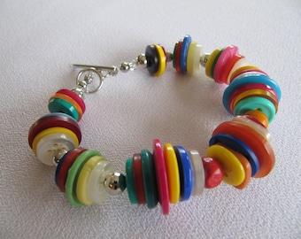 Buttons bracelet, bright colors
