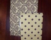 Olive and Brown Coordinating Fabric 2 pieces