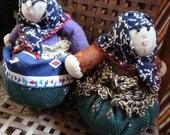 GRANNY LAVENDER Babushka Pincushion Doll