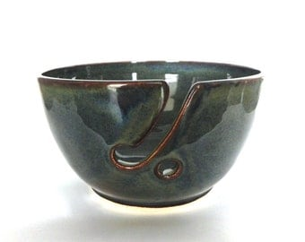 Rustic Blue Porcelain Yarn Bowl