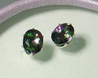 Fire Mystic Quartz Earrings