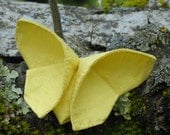 Corsage Silk Origami Butterfly Brooch Broach Corsage Bright Yellow LARGE SIZE