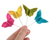 Custom Boutonniere Silk Origami ButterflyWedding Lapel Pin Candy Colors Stick Pin Buttonhole Bright Carnival Wedding GROUP DISCOUNT AVAILBL