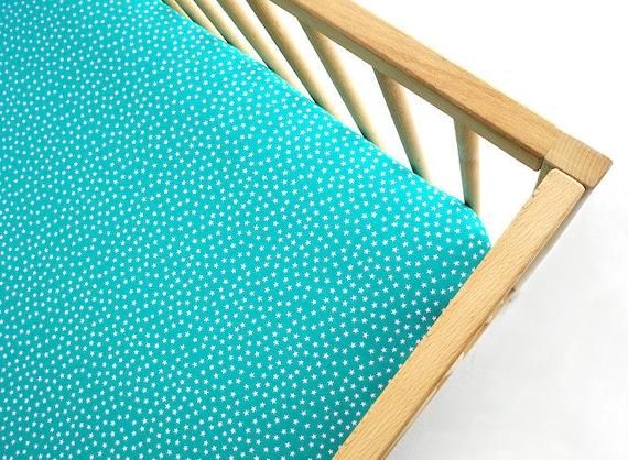 Crib Sheet , Fitted Crib Sheet , Bumperless , Crib Bedding Tiny Bit Stars