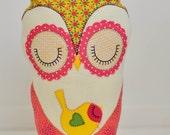 Owl and Sparrow handmade plush softie bedroom decor