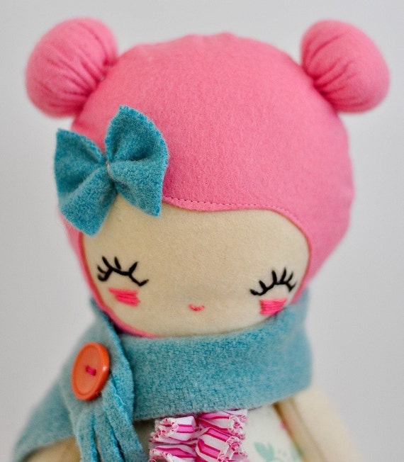 Love lulu doll, plush, softie, handmade