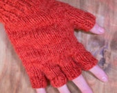 Handknit organic cotton / bamboo gloves