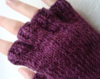 Hand knitted organic cotton / bamboo gloves