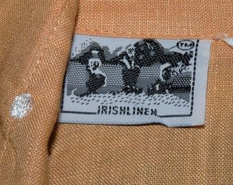 IRISH LINEN Apricot Blouse  Size Small