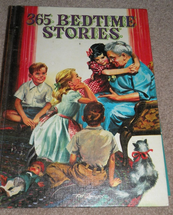1955 Whitman Publishing Company 365 BEDTIME STORIES for Children   So Charming