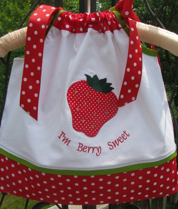 sample sale half off 12 months only strawberry pillowcase dress
