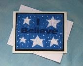 I Believe with Stars Batik Card