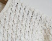 SALE Cream Loose Knit Sweater Jumper Cotton 80s Vintage M