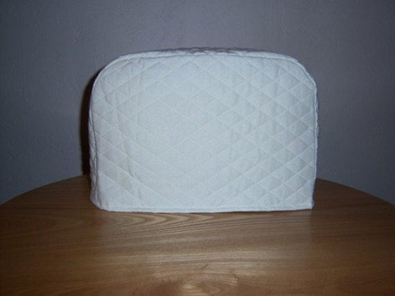 toaster cover 2 slice white i have a by sewingandembroidery. Black Bedroom Furniture Sets. Home Design Ideas