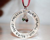 Memorial Christmas Ornament - Large Washer