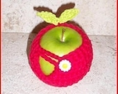 Apple Cozy with Leaves Crochet Pattern