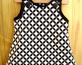 Black and White Couture Jumper-Dress, 3T