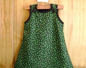St Patrick's Day Jumper-Dress, custom made to sizes, 6M - 4T