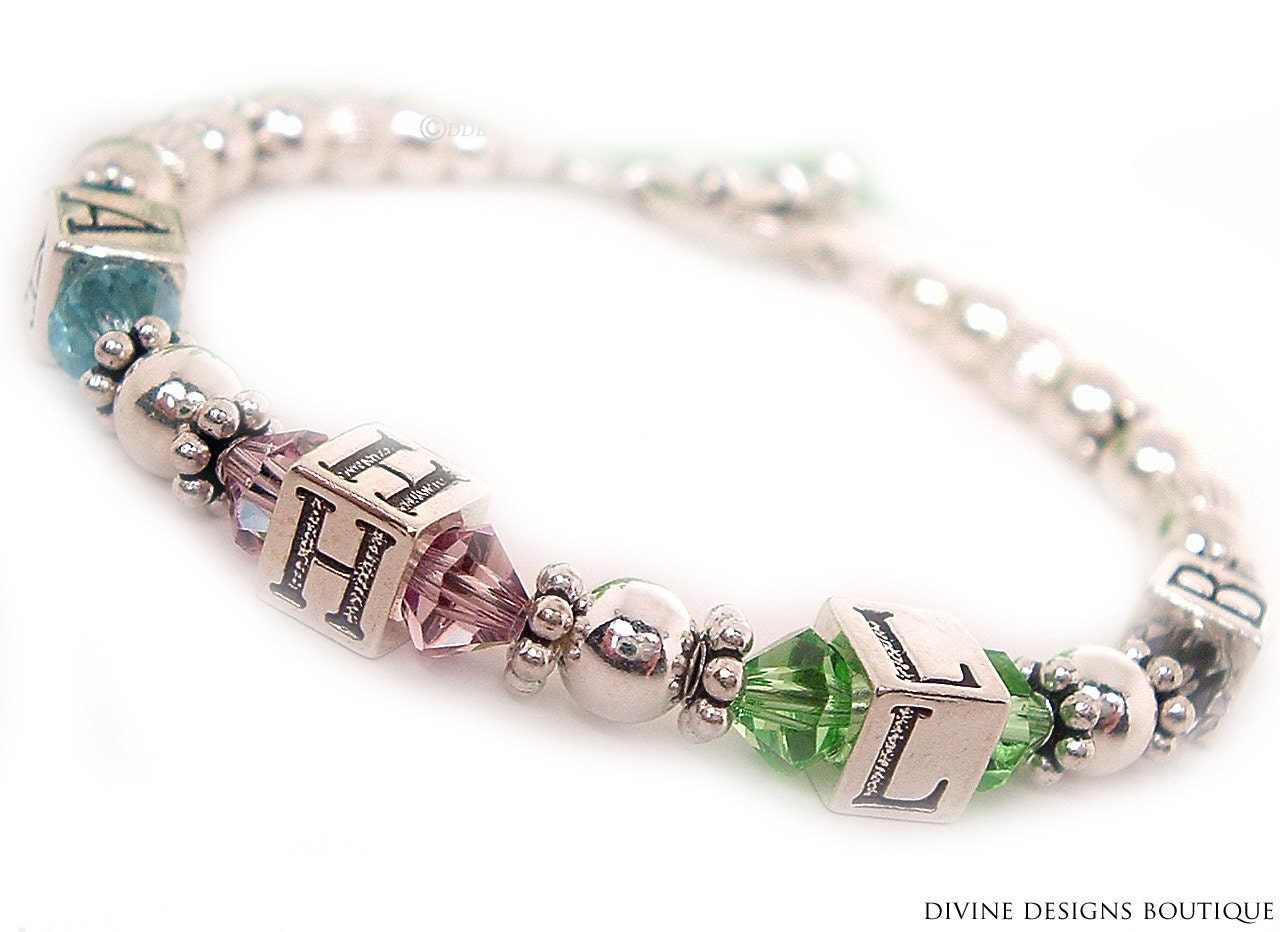 initial bracelet initial jewelry by divinedesignjewelers