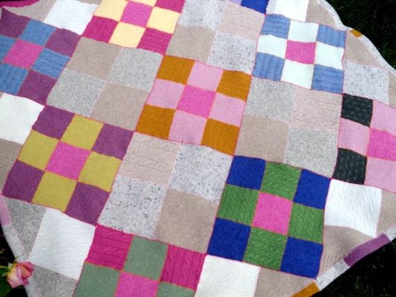 Recycled Wool Lap/ Baby Blanket