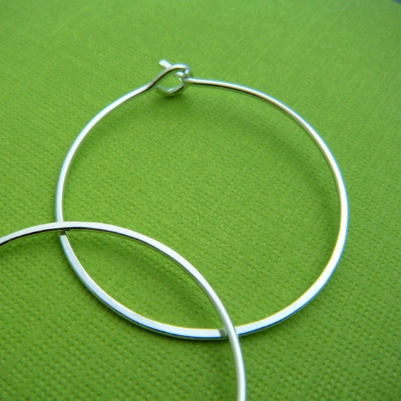 SMALL silver hoop earrings. sterling silver hoops. simple. 1.25 inch. ready to ship gift for her