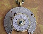 Time Lock - Steampunk Necklace- Repurposed art