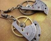 Propel  - Steampunk Earrings - Repurposed art