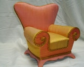 Diva Chair  / Special Chair for Collectible Doll w/ Secret Compartment for Jewelry, Etc.