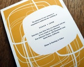 Printable Wedding Invitations - Modern Circles - Yellow Orange Wedding Invites - Instant Download - PDF Wedding Invitation Template - Mod