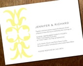 Printable Wedding Invitations - Ornament - Yellow and Gray Wedding Invitations - Instant Download Wedding Invitations - Invite PDF Download