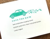 Printable Save the Date Card - Save the Date Template - Instant Download - Save the Date PDF - Volkswagen Bug Save the Date - VW Beetle PDF
