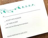 Printable RSVP Card - Response Card Download - Instant Download - RSVP Template - Response Card - Just Married - Teal Just Married rsvp