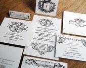 Printable Wedding Invitation Kit - Instant Download - Wedding Printables - DIY Wedding Invitations - Black & White Vintage Invitation Set