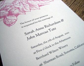 Printable Wedding Invitations - Pink Floral - Instant Download Wedding Invitation - Pink Wedding Invitations - PDF Wedding Invite - Vintage