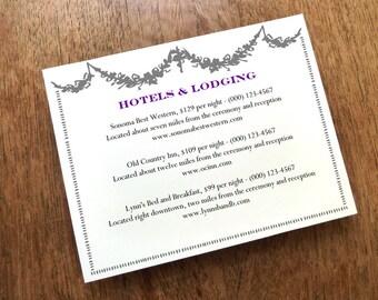 Wedding Information Card - Printable Wedding Enclosure Card - Manor - Wedding Information Card - Gray Garland