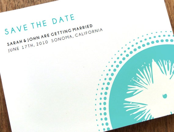 Printable Save the Date Card - Save the Date Template - Instant Download - Save the Date PDF - Starburst Save the Date - Turquoise Star PDF