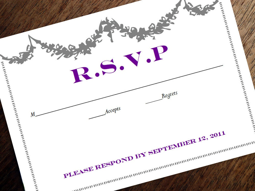 Free printable wedding rsvp card templates inviation download here invitation and rsvp template for Printable rsvp card
