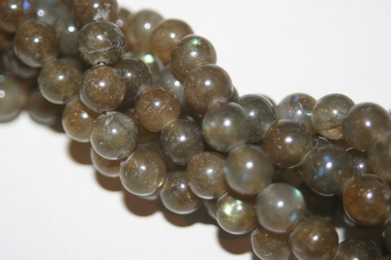 SALE - Natural Genuine Labradorite Beads - 6mm - 20 pcs