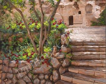 Easter - Canvas - Print - Garden Tomb - Jesus - Christ - Religious  - 16 x 20
