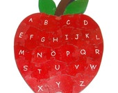 Alphabet Apple - Children's Educational Wooden 3D Puzzle