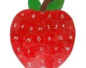 Alphabet Apple - Children's Educational Wooden 3D Puzzle