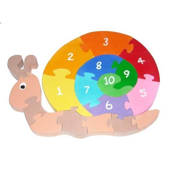 Counting Snail - Children's Educational Wooden 3D Puzzle