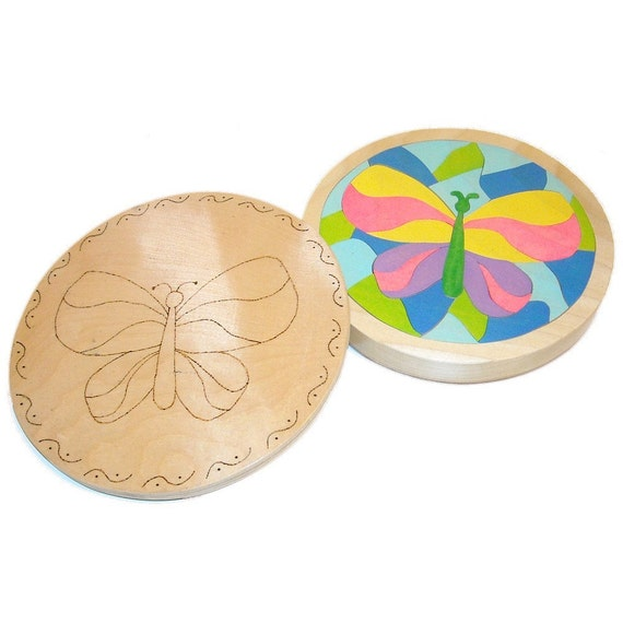Mosaic Butterfly - Personalized Wooden Boxed Puzzle