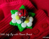 Pook's Lady Bug Brooch/Pendant